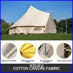 Bell Yurt 7m Dia. Cotton Canvas Tent Glamping Wall With Stove