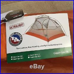 Big Agnes Copper Spur UL3 Tent 3-Person 3-Season Terra Cotta/Silver One Size