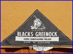 Blacks of Greenock Good Companions Major Egyptian Cotton Canvas Pyramid Tent VGC