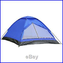 Blue 2 Person Camping Hiking Backpack Light Dome Tent Sun Shade Beach Shelter
