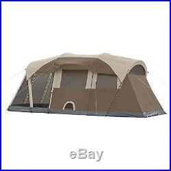 COLEMAN WeatherMaster WeatherTec 6 Person Family Camping Tent with Screened Room
