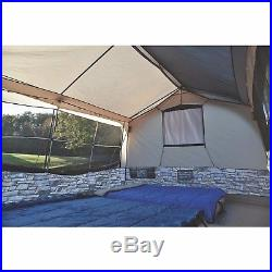 Cabin Stone Cottage Tent 8 Person Camping Family Lighting and Projector Screen