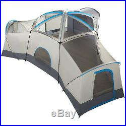 Cabin Tent Ozark Trail 16-Person Sleeps 3 Room Camping Outdoor Hiking Shelter
