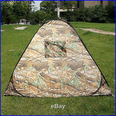 Camouflage Camping Hiking Easy setup Instant Shelter Pop Up Tent 2-3 Person