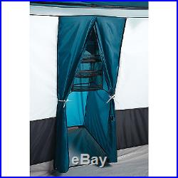Camping Family Cabin Tent 3-Large Room 12-Person Blue Instant 20'X12' Outdoor