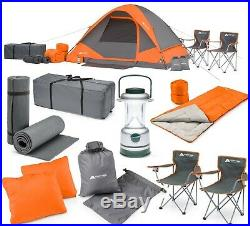 Camping Summer Combo Set Loft Foam Sleeping Pads Pillows Lantern Tent 2 Chair