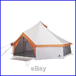 Camping Tent 8 Person Large Yurt Shape Easy Setup Stand Up Tall By Ozark Trail