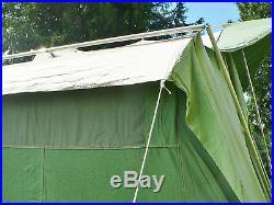 Canvas Tent Coleman Oasis 2 Door 13' X 10' X 7' 9 Tall Sleeps 8 Aluminum Poles