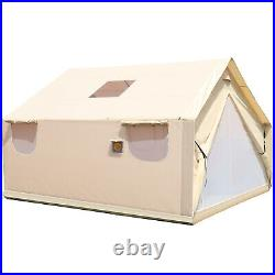 Canvas Wall Tent 10'x12'with Frame, Fire Water Repellent for Hunting&Camping