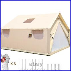 Canvas Wall Tent 14'x16'with Frame, Fire Water Repellent for Hunting&Camping