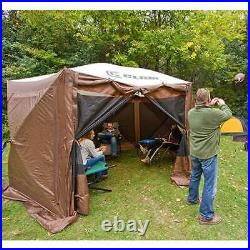 Clam Quick Set Pavilion Portable Outdoor Canopy Shelter Screen, Brown (Used)
