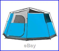 Coleman 8 Person 2 Room Octagon 98 Family Camping Tent with RainFly 13' x 13