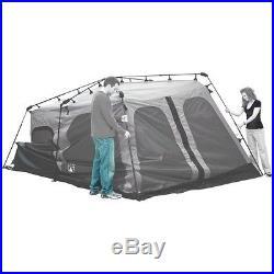 Coleman 8-Person Instant Tent 2 Room 14x10 Foot Outdoor Camping WeatherTec Brown