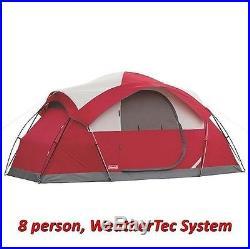 Coleman 8-Person Tent Waterproof WeatherTec Instant Camping Hiking Outdoor NEW