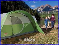 Coleman Montana 8 Person Family CAMPING TENT, 16x7 Ft 1 Room INSTANT TENT, Green