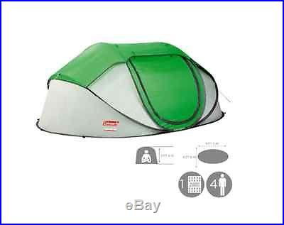 Coleman New 4 Person Instant Pop Up Tent w/ Rainfly 2000014782