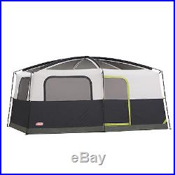 Coleman Prairie Breeze 14' x 10' 9 Person Camping Tent with Light + Fan 2000008055