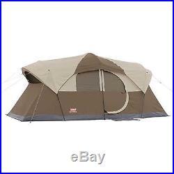 Coleman WeatherMaster 10 Person 2 Room Camper Tent with Hinged Door Weatherproof
