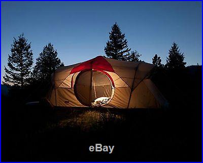 Coleman WeatherMaster 10 Person 2 Room Family Camping Tent w/ LED Light System
