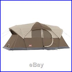 Coleman WeatherMaster 10 Person 2 Room Outdoor Family Camping Tent 17' x 9