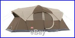 Coleman WeatherMaster 10 Person 2 Room Tent with Hinged Door 16 x 9 2000001598