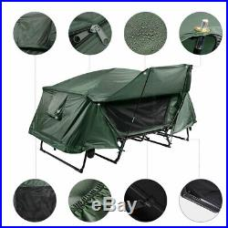 Double Camping Tent Cot Folding Portable Waterproof Hiking Bed Rain Fly Bag