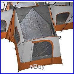 Easy Ozark Trail 14-Person 4-Room Big People Base Camp Tent Large Strong 20 ft
