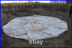 Emperor Twin Cotton Canvas Bell Tent 6x4M Waterproof 3 Doors Glamping Yurts Tent