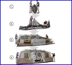Extra Large Family Outdoor Camping Tent 10 Person 3 Room Survival Gear Shelter