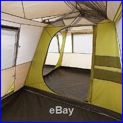 Family Camping Tent 10 12 Person 3 Room Cabin Instant Setup 16' X 16' Outdoor