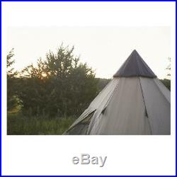 Family Large Camping Hunting Teepee Tent 14x14 6 Person Guide Gear Waterproof