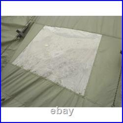 Family Teepee Tent 18' x 18' Sleeps 8 Camping Outdoor Family Rainfly Green Floor