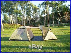 Family tent with 2 separated rooms for 4 persons & in between tunnel and canopy