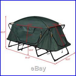 Folding 1 Person Elevated Camping Tent Cot Waterproof Hiking Outdoor w Carry Bag
