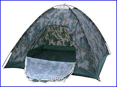 Folding Tent 2Person 4Seasons Fiberglass Outdoor Camping Camouflage Hiking i