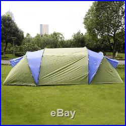 GOPLUS Large 6-8 Person Waterproof 2+1 Room Hiking Camping Tunnel Family Tent