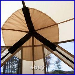 Gazelle G6 8 Person 6 Sided 124 x 124 Portable Gazebo Screen Tent (Open Box)