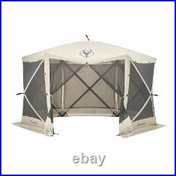 Gazelle Tents 21500 G6 Pop-Up Portable 6-Sided Hub Gazebo/Screen Tent, Easy Inst