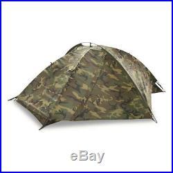 Genuine US Military Surplus Eureka! TCOP One Person Combat Tent, Woodland Camo