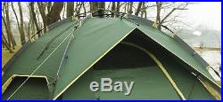 Instant Automatic Pop Up Backpacking Camping Hiking 3-4Persons Tent Green