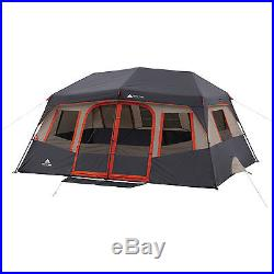 Instant Cabin Tent 10 Person Camping Outdoor Family Hiking Travel Dome Orange