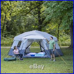 Instant Cabin Tent 11 Person Hexagon Camping Outdoors Family 17' x 15' Large New