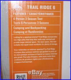 Kelty Trail Ridge 6 Person 3 Season Camping Tent MSRP $400 NEW