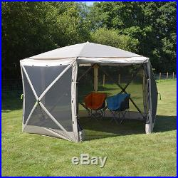 LARGE POP UP SCREEN HEX SHELTER TENT for sun shield event festival UV50