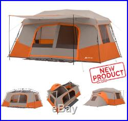 Large 11 Person Cabin Tent 3 Rooms All Season Outdoor Instant Camping Hiking NEW
