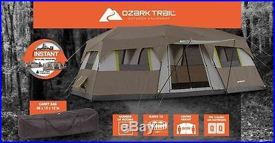 Large Camping Family Tent Outdoor Extra 10 Person 3 Room Survival Gear Shelter
