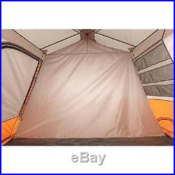 Large Instant Cabin Tent 13' x 9' River Camping 8 Person Outdoor Hiking Orange