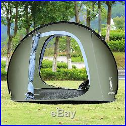 Large Pop Up Camping Hiking Tent Auto Instant Setup Easy Fold back Army Green