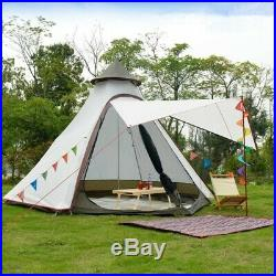 Lightweight Waterproof Family Tent Indian Style Pyramid Tipi Tent
