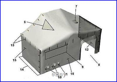 MILITARY M. G. P. T. S. 18' X 18' Small Modular General Purpose Tent System MGPTS